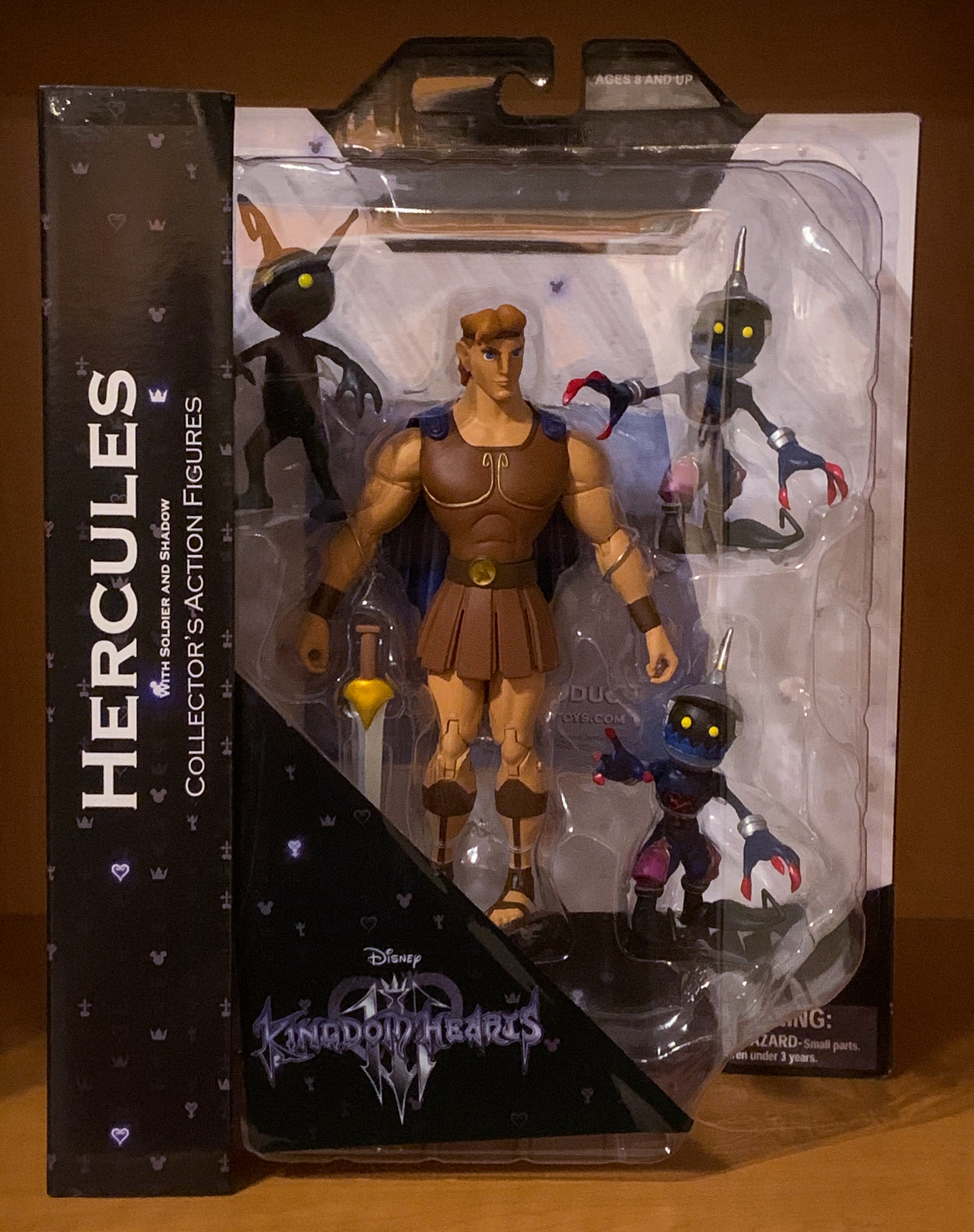 Kingdom Hearts 3 Hercules /& Pearl Dusk Select Action Figure Two Pack
